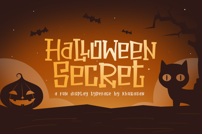 Halloween Secret Font poster