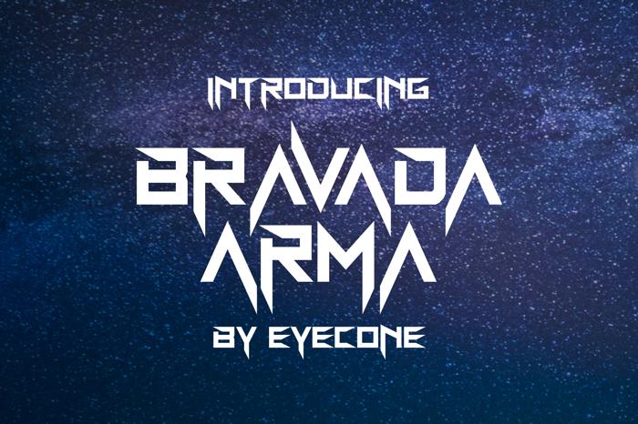 BravAda Arma Font poster