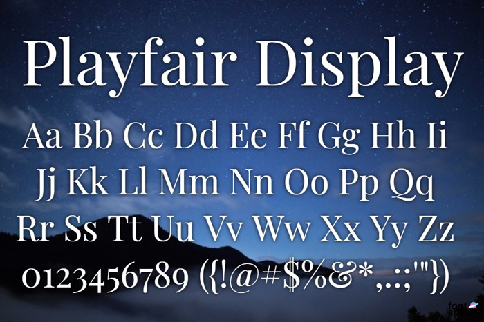 Playfair Display Font poster