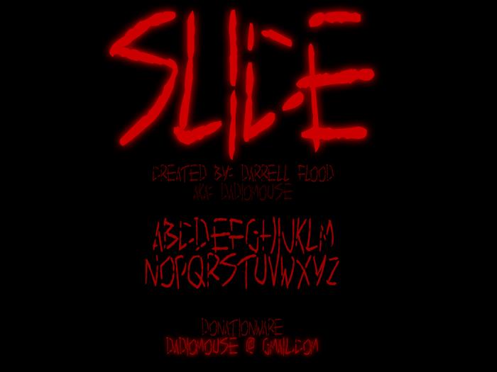 Slice Font poster