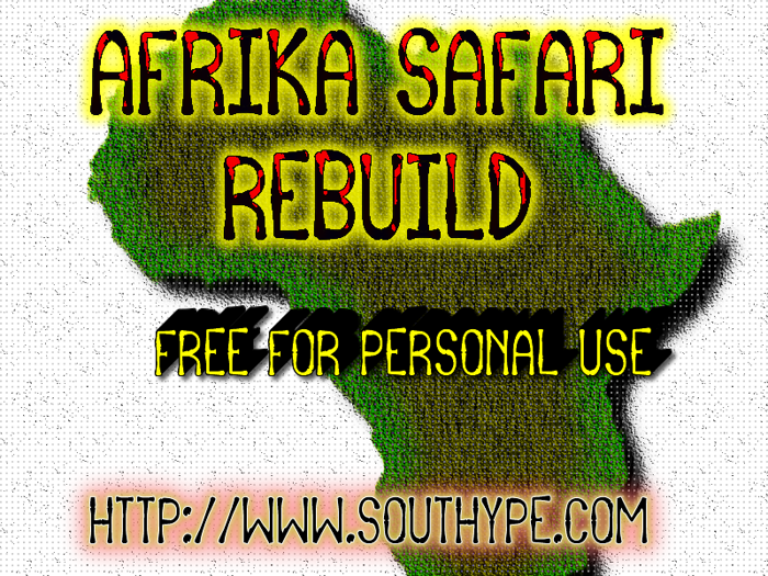 Afrika Safari Rebuild St Font poster