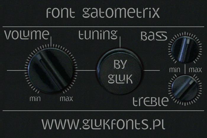 Gatometrix Font poster