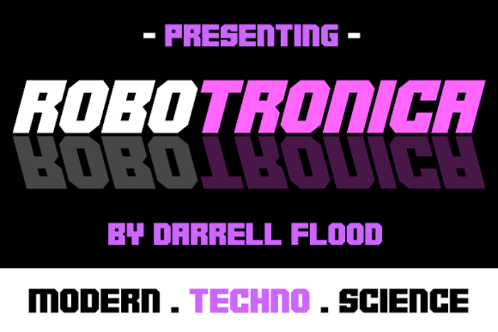 Robotronica Font poster