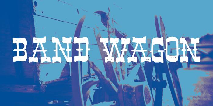 Band Wagon DEMO Font poster
