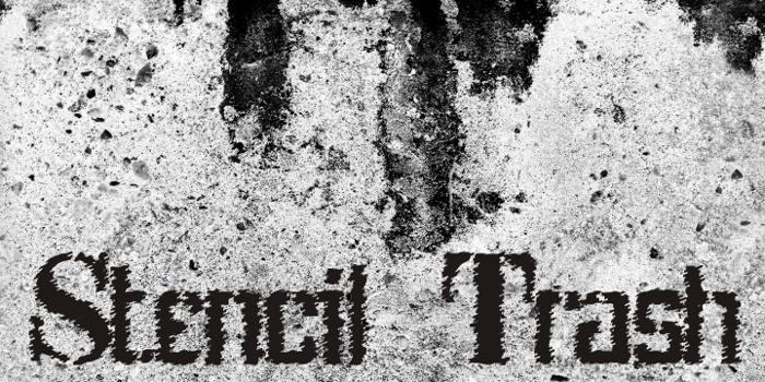 Stenci lIntellecta Trash Free Font poster