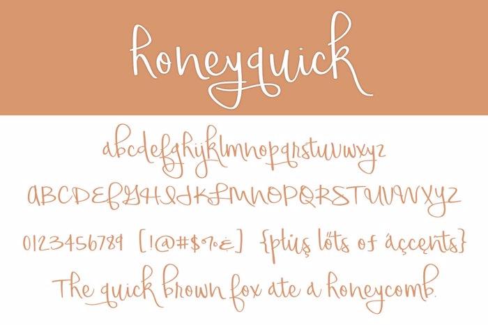 honeyquick Font poster