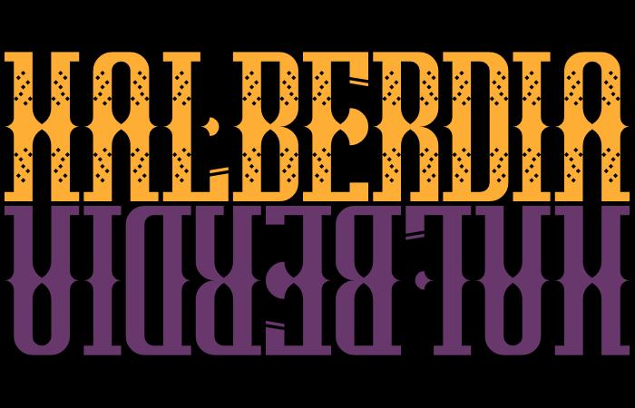 Halberdia Font poster