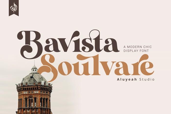 Bavista Soulvare Font poster