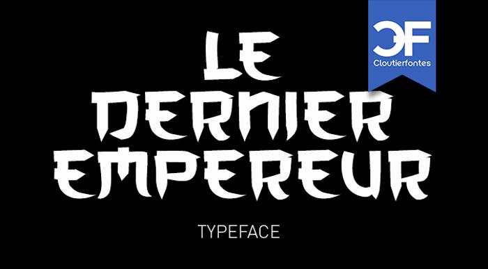 CF Le dernier Empereur Font poster