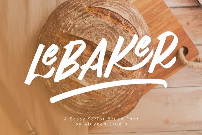 LeBaker Font poster