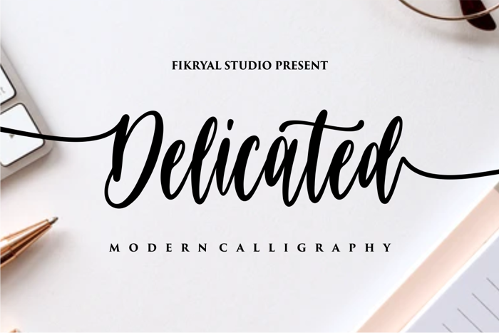 Delicated Font poster