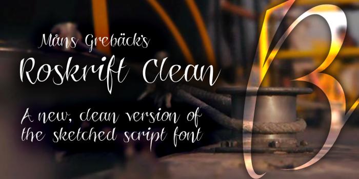 Roskrift Clean Font poster