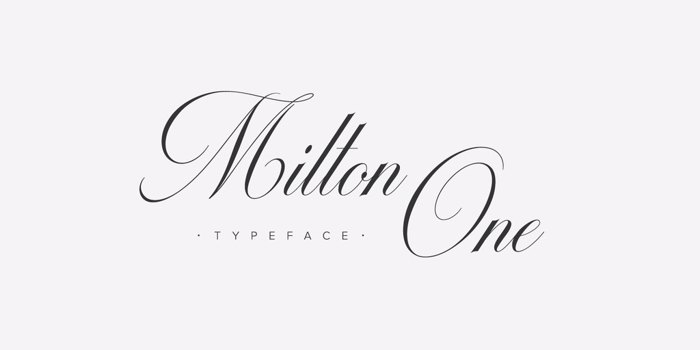 Milton One Font poster