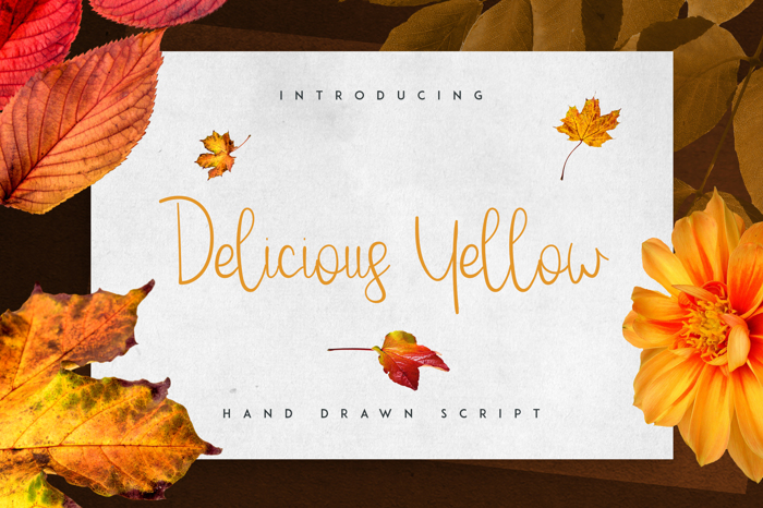 Delicious Yellow Font poster