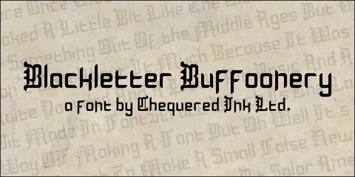 Blackletter Buffoonery Font poster