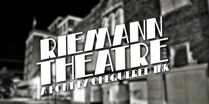 Riemann Theatre Font poster