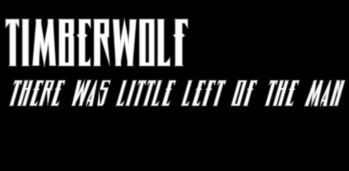 Timberwolf Font poster