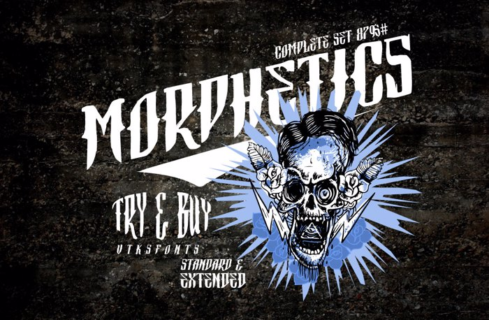 Vtks Morphetics 2 Font poster