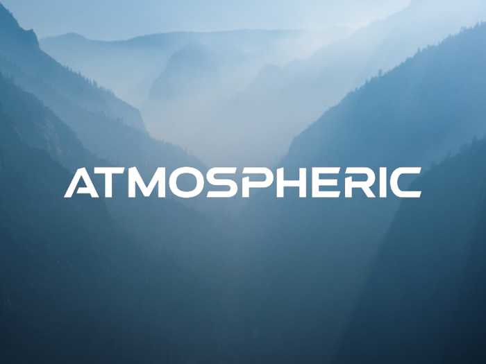 a Atmospheric Font