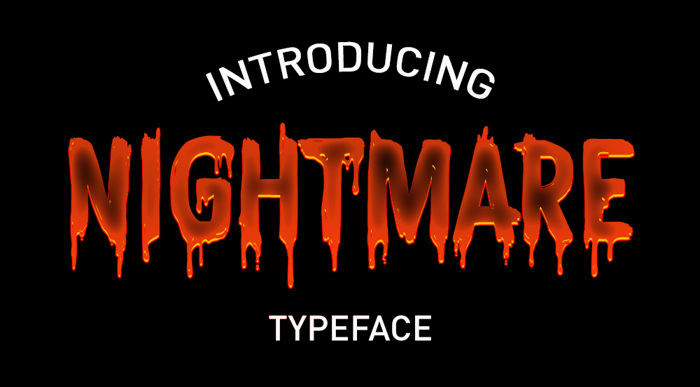 CF Nightmare Font poster