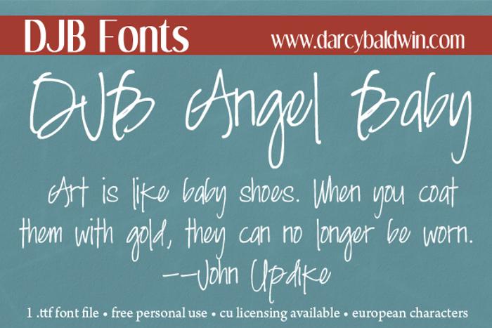 DJB Angel Baby Font poster