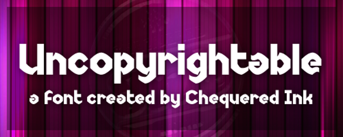 Uncopyrightable Font poster