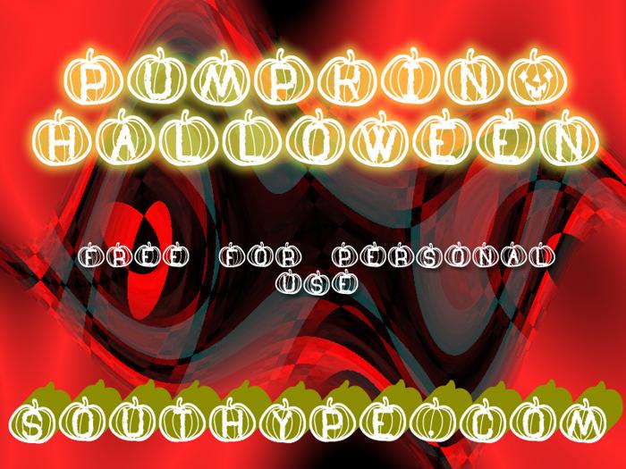 Pumpkin Halloween St Font poster