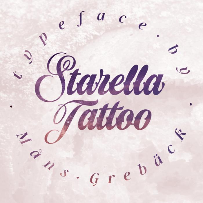 Starella Tattoo Font poster