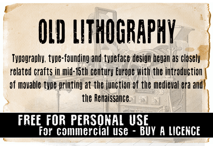 CF Old Lithography Font