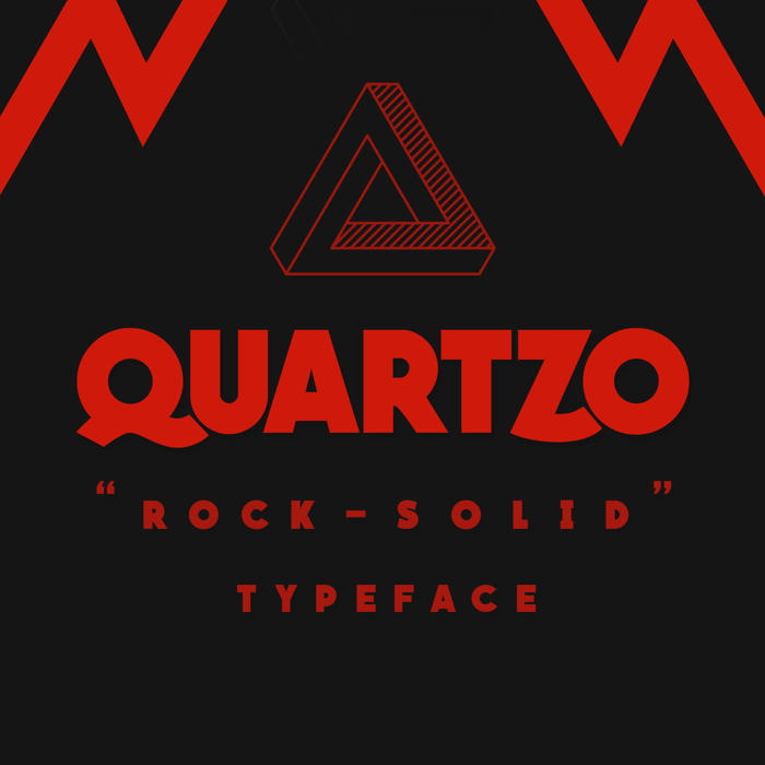 QUARTZO Font poster