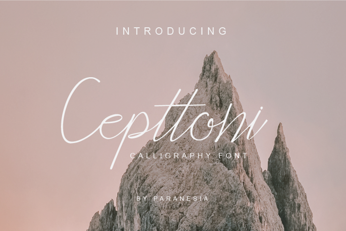 Cepttoni calligraphy Font poster
