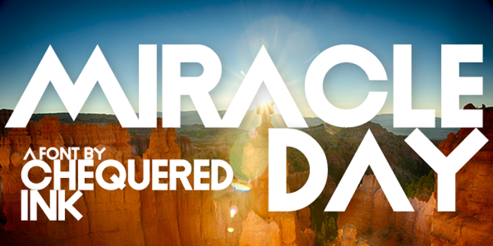 Miracle Day Font poster