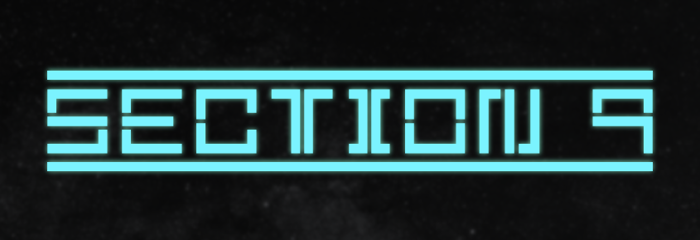 Section 9 Font poster