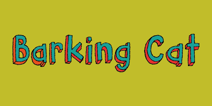 Barking Cat Font poster