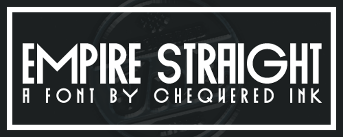 Empire Straight Font poster