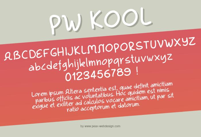 PWKool Font poster