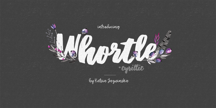 Whortle Font poster