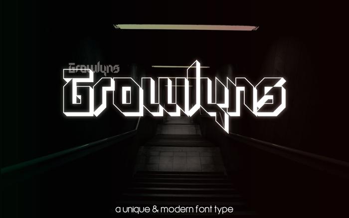 Growlyns Font poster