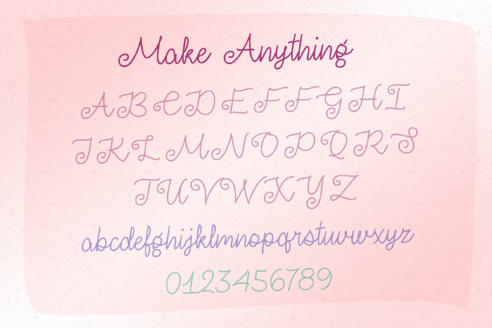 Make Anything Font poster