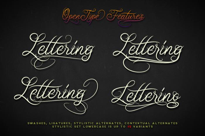 Unblessed Script Font poster