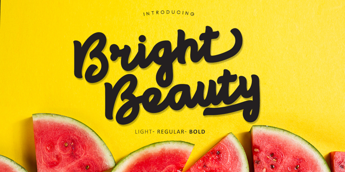 Bright beauty Font poster