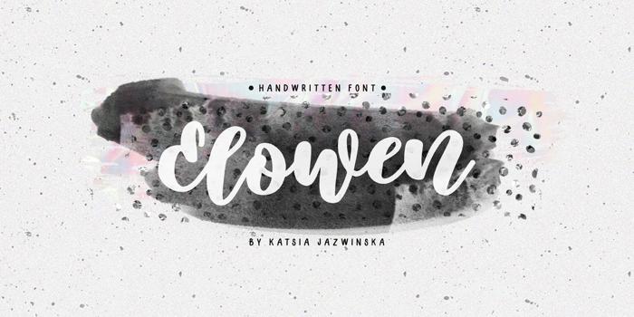 Elowen Font poster