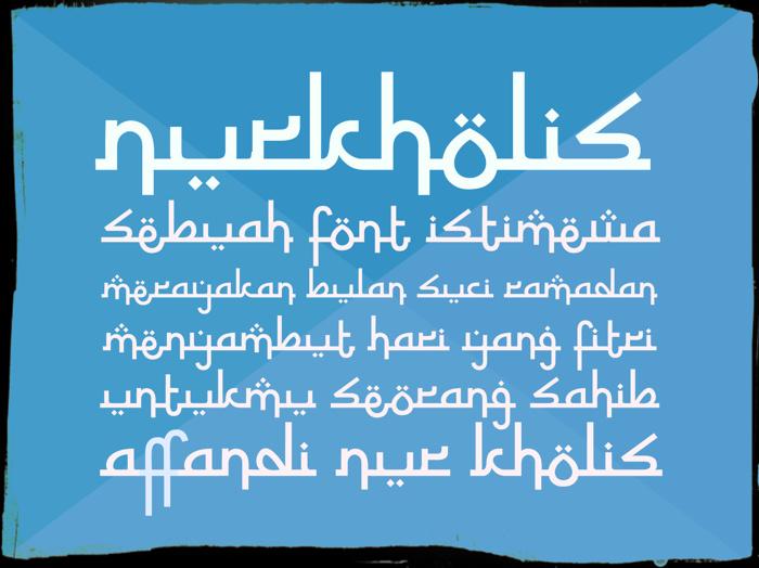 Nurkholis Font poster