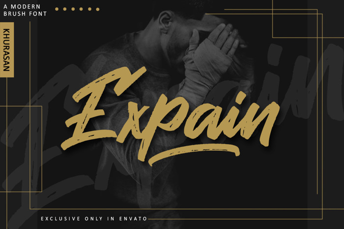 Expain Font poster