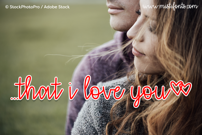 that i love you Font poster