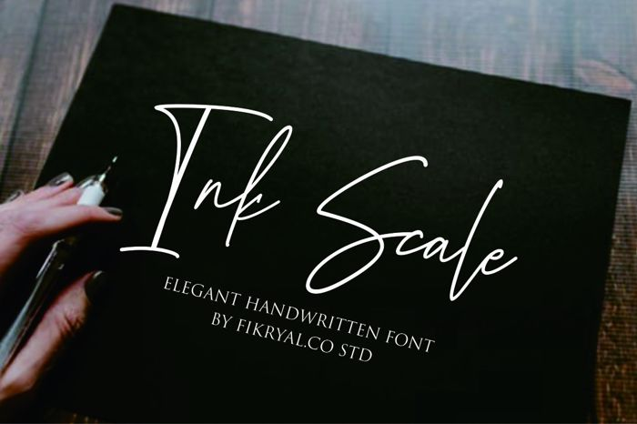 Ink Scale Font poster