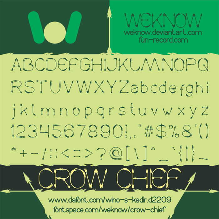 Crow Chief Font poster