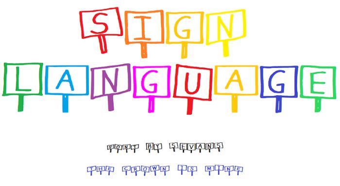 Sign Language Font poster