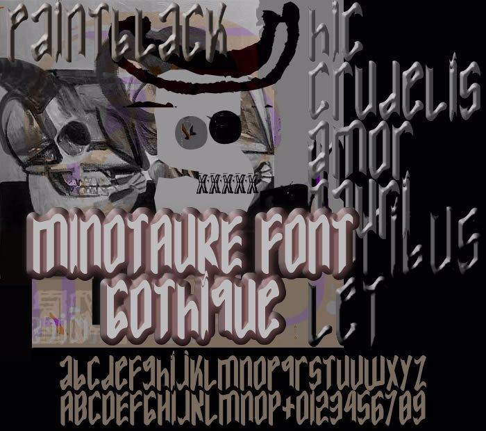 MINOTAURE Gothique Font poster