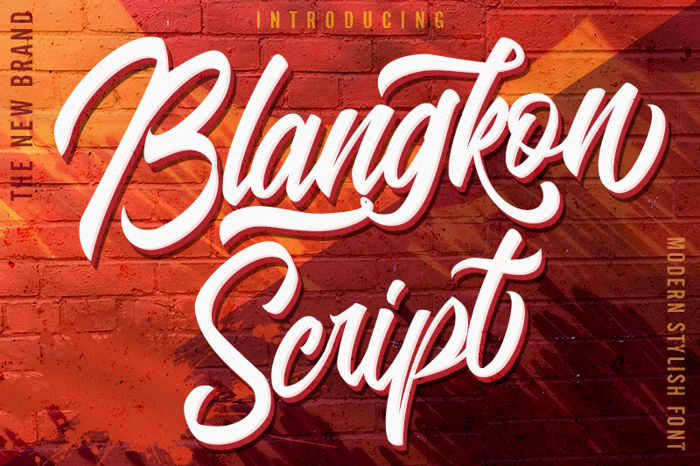 Blangkon Script Font poster
